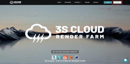 Register an account on 3S Cloud Render Farm