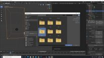 Select the folder to append in Blender