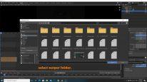 Select the output folder in Blender