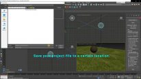 Save your project file in 3ds Max
