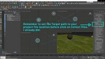 Set the target path in 3ds Max