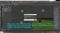Upload the 3ds Max project folder to 3S Cloud Render Farm