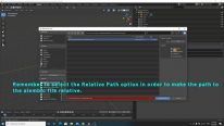 Enable the relative path option in Blender