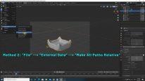 Make all paths relative in Blender
