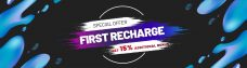 1st recharge promotion